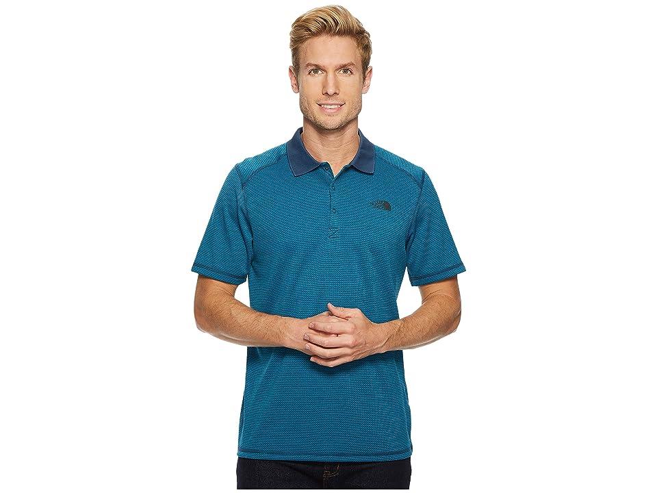 The North Face Short Sleeve Horizon Polo (Shady Blue Stripe) Men