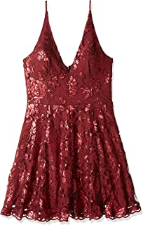 Women's Morgan Fit and Flare Sleeveless Lace Party Dress