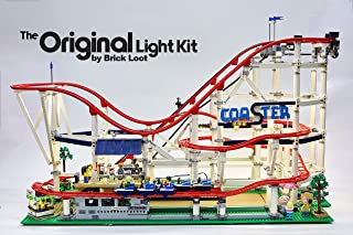 Deluxe Version Lighting Kit for YOUR LEGO Roller Coaster set 10261 by Brick Loot - LEGO SET NOT INCLUDED