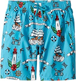 Tattoo Sashimi Swim Trunk (Big Kids)