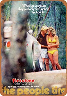 Wall-Color 7 x 10 Metal Sign - 1972 Firestone Tires - Vintage Look