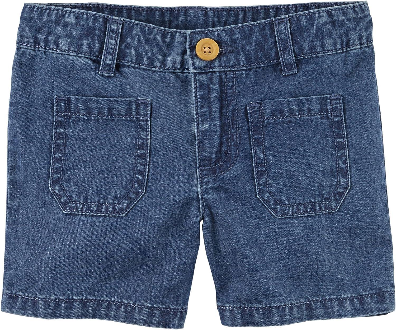 Carter's Finally Tampa Mall popular brand Girls' Navy Patch Pocket Blue Shorts Size Denim 4