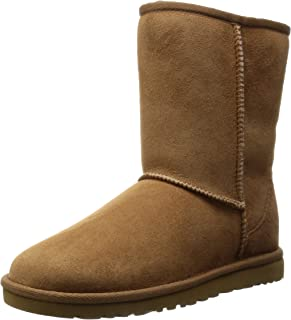ugg classic short leather feather
