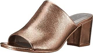 Women's Mass-TER Mind Open Toe Slide with Block Heel Metallic Pump