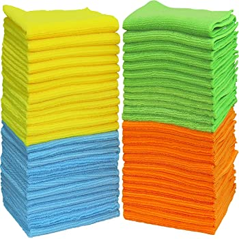"50 Pack - SimpleHouseware Microfiber Cleaning Cloth (12"" x 16"")"