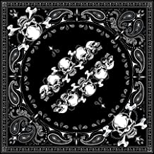 Zanheadgear B140 Premium Bandanna, 100% Cotton, Skull Row