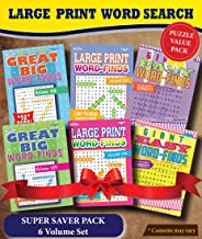 KAPPA Super Saver LARGE PRINT Word Search Puzzle Pack-Set of 6 Full Size Books