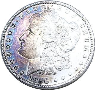 1896 P Morgan Silver Dollar $1 Brilliant Uncirculated Beautiful Toning #105A