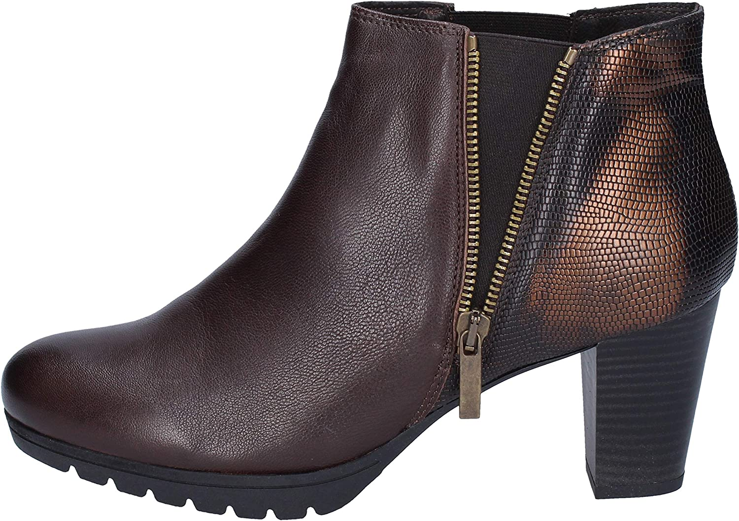 KEYS Boots Womens Leather Brown