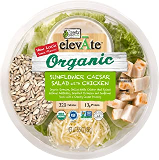 Ready Pac Foods Elevate Organic Salad, Sunflower Caesar Salad with Chicken, 5.5 oz