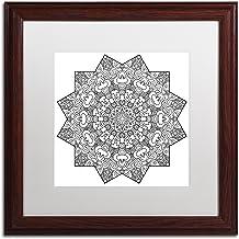 """Trademark Fine Art """"Andrew Mandala by Kathy G. Ahrens"""" White Matte Wooden Framed Artwork, 16"""" x 16"""""""