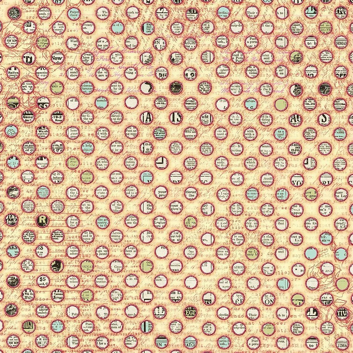 Prima 812768 12 by 12-Inch Flirty Little Secrets Patterned Cardstock Paper, Ringlets, 25-Pack