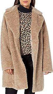 Chic and Warm Faux Belted Jacket Abrigo de Piel sintética para Mujer