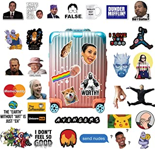 The Ultimate Popular Culture Stickers Pack [110 PCS], The Office, Super Hero, Meme, Madmen, Funny Stickers for Laptop, Water Bottle
