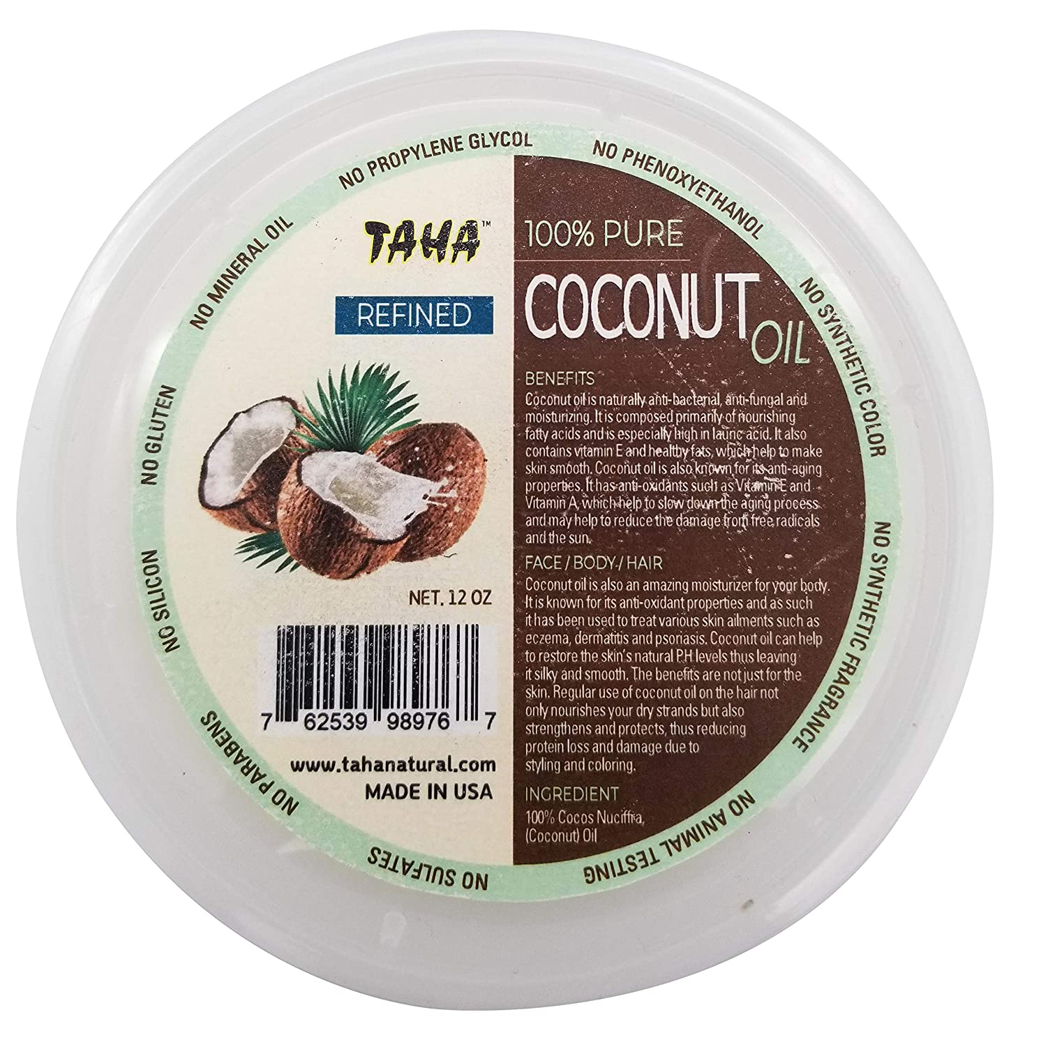 Taha Coconut Refined Oil (Pack of 4)