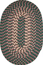product image for Constitution Rugs Hometown 8' Round Braided Rug in Hunter Green