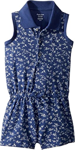 Floral Mesh Polo Romper (Infant)