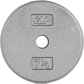 Cap Barbell Cast Iron Standard 1-Inch Weight Plates, Gray, Single
