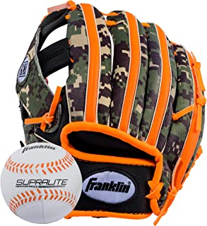 Franklin Sports Teeball Glove - Left and Right Handed Youth Fielding Glove - Synthetic Leather Baseball Glove - Ready To Play Glove (RTP)