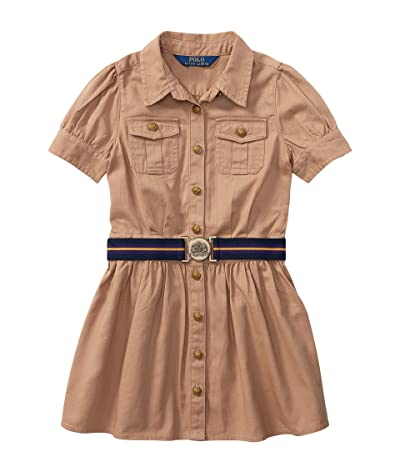Polo Ralph Lauren Kids Tissue Chino Shirtdress (Toddler) (Khaki) Girl