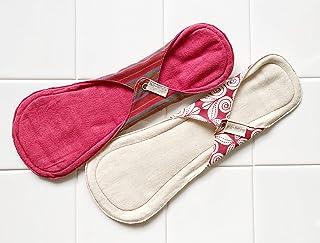 南インド「Eco Femme」布ナプキン (防水あり)夜用 色違い2枚セット
