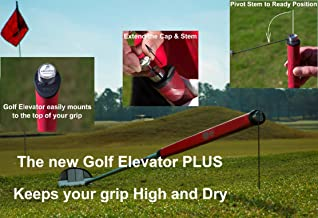 New Redesigned, Golf Elevator Plus w/Magnetic Ball Marker,Putter Prop,Golf Club Prop,Golf Club Stand. Raises Grip 6