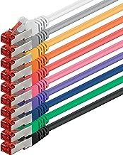 1aTTack Cat6 Sftp Netzwerk Patch Kabel 2 x RJ45 Stecker Set (10 Farben, 10 Stück) 0,5m