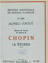 12 Etudes (Douze Etudes) Opus 10, for Piano