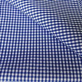 Flor Márquez® - Tela de Cuadros Vichy por Metro. Para Costura y Manualidades. Ropa, Manteles, Mandilones, Cortinas. Colores y Tamaños a Elegir: (Azul, 1,50 x 3,00 mts)
