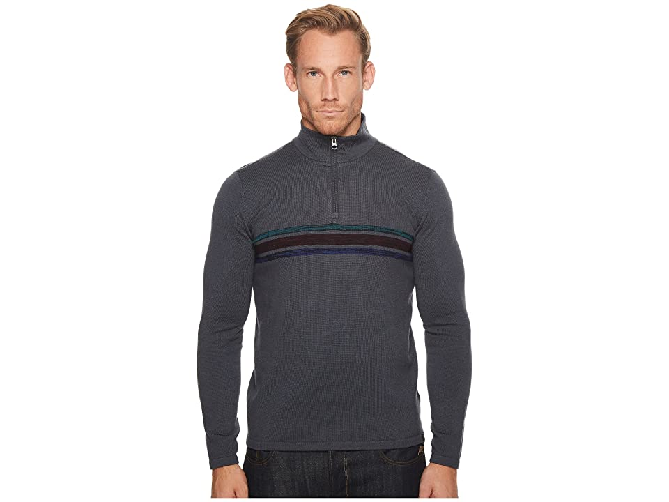 Prana Holberg 1/4 Zip Sweater (Coal) Men