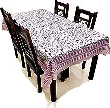 BLOCKS OF INDIA Hand Block/Batik Print Rectangular Table Cloth for 6 Seater Dining Table (60 Inch X 90 Inch) (Pink Kalamkari)