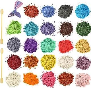 Funxim epoxyhars kleur 12x10g, zeepkleur set metallic kleur harskleur, Mica Poeder Pigmenten Poeder voor Zeep Hars Gegoten...