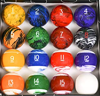Iszy Billiards Pool Table Billiard Ball Set Marble – Swirl Style Several Styles to Choose From