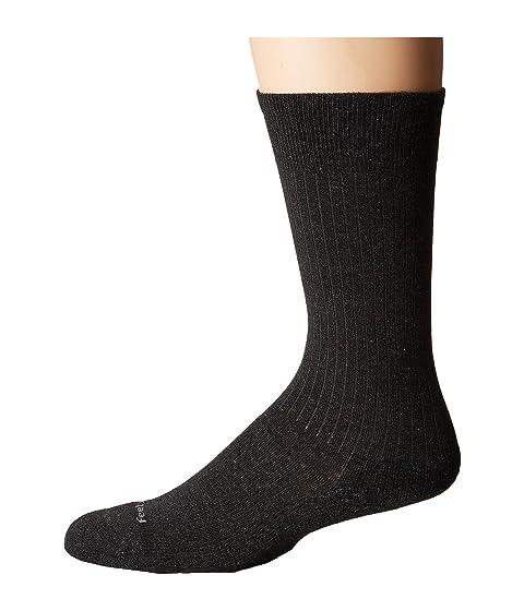Feetures Classic Rib Cushion Crew Sock Charcoal Cheap Sale With Mastercard 6ZzvehCa
