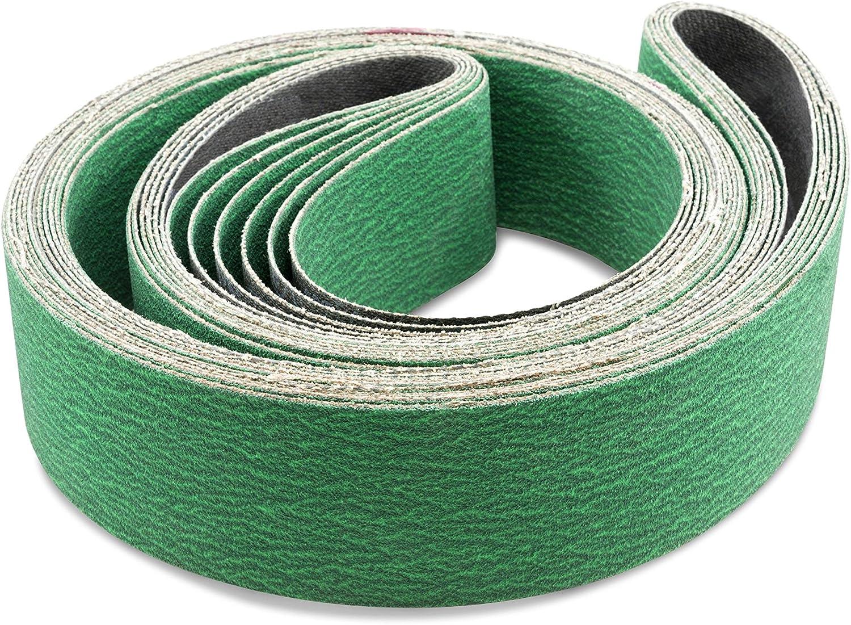 Sanding Belts 2 x 82 inch Aluminum Oxide Sanding Belts For Belt sander 60 Grit 50x2100mm Pack of 5