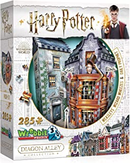 WREBBIT 3D - Harry Potter Weasleys' Wizard Wheezes & Daily Prophet 3D Jigsaw Puzzle - 280Piece, Brown/A