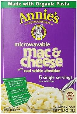 Annie's Homegrown White Cheddar Microwavable Mac & Cheese, 10.7 oz, 5 ct