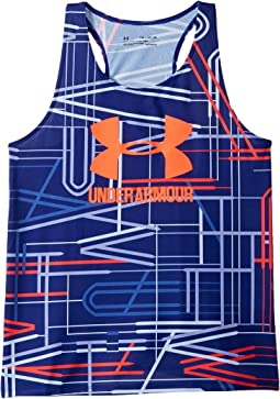 UA Big Logo Novelty Slash Tank Top (Big Kids)