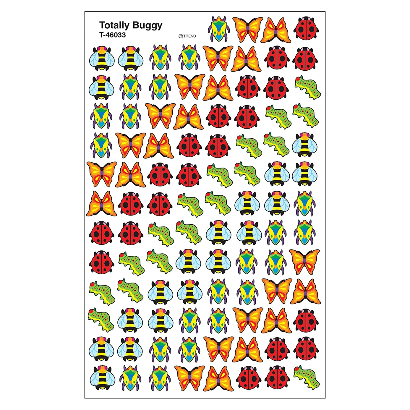 Trend Enterprises Inc. Totally Buggy superShapes Stickers, 800 ct