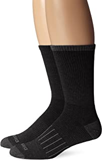 Dickies Hommes Paquet de 2 travail Casual Stripe Assortiment mi-chaussettes Noir