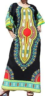 Brand Full One Piece Long Afrikan Black Dashiki Sac Dress