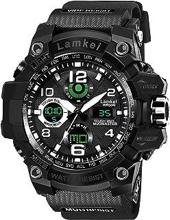 Lamkei Analogue - Digital Men's Watch (Multicolored Dial Black Colored Strap)