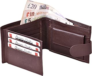ES Traders Wallet for Men Boys Designer Genuine Leather Bifold Card Sports Credit Tri Retro Canvas Coins Zip Coin Pouch, 1...