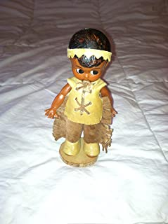 Rare 1953 Antique Vintage Carlson Native American Indian Brave Doll 6