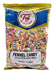TAJ Premium Indian Fennel Candy, Sugar Coated Fennel Seeds (Saunf) (2-Pounds)