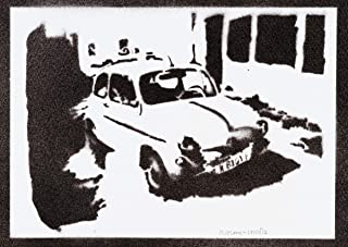 Poster SEAT 600 Automóvil Clásico Grafiti Hecho a Mano - Handmade Street Art - Artwork