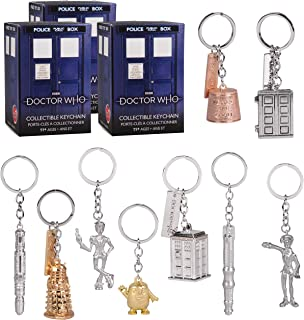 Doctor Who Key Chain Mystery Blind Box, 3 Pack - Receive 3 Mystery Key Rings - Collect All 9 - Series 1