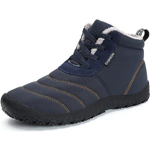 SAGUARO Stivaletti Caviglia Donna Neve Stivali Uomo Invernali Scarpe Caldo  Pelliccia Stringate Antiscivolo Boots Piatto All f1ded772063