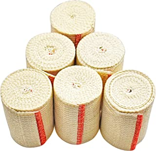 """NexSkin Elastic Compression Wrap (3"""" Wide, 6 Pack) with Hook and Loop Fasteners at Both Ends 