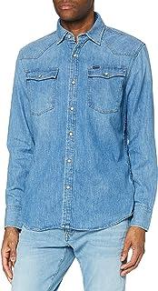 G-Star Raw Men's 3301 Slim Fit Denim Long Sleeve Western Shirt